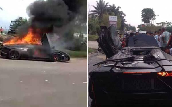 Lamborghini Milik Raffi Ahmad Terbakar